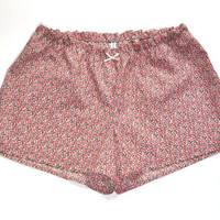 """Liberty Cotton Pajamas shorts """"PEPPER B"""" With Side Slits"""