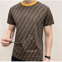 Fendi 2020 new double F letter round neck half-sleeved T-shirt
