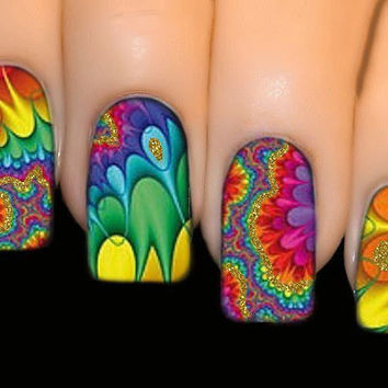 Nail Stickers - FULL COVER SERIES Nail Art Water Transfer Decal Sticker - Hypnotic