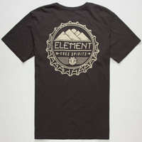 Element Re-Use Mens Pocket Tee Black  In Sizes