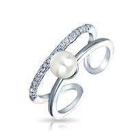 Bling Jewelry Pick A Pearl CZ Ring