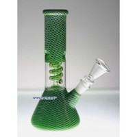 "8"" Green Glass Mini Bong - Eco Bongs - 24.99 US and Canada"