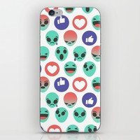 Alien Reactions iPhone & iPod Skin by Chobopop