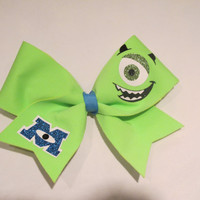 "2 1/4"" Monsters Inc - Mike Mazowski Cheer Bow"