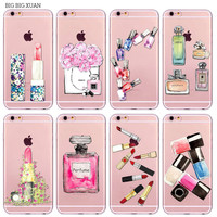 Luxury Perfume Bottle Phone Case For iPhone 6 6S 5 5S SE 6Plus 6sPlus Transparent Soft Silicone Cover