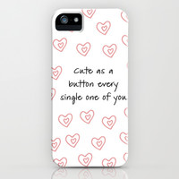 One Direction - Cute as a Button iPhone & iPod Case by Kate