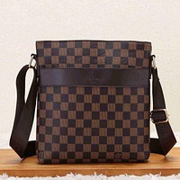 Louis Vuitton LV Men Fashion Leather Office Bag Crossbody Satchel Shoulder Bag