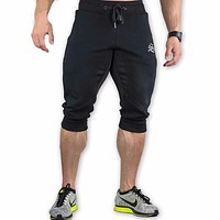 NEW Summer Brand Mens Jogger Sporting Shorts Men Black Bodybuilding Short Pants Male Fitness Gyms Shorts for workout