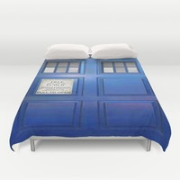 doctor who public box  Duvet Cover by Follow Me Now
