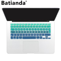 Rainbow Color Silicone Turkey Keyboard Cover Turkish Protector Stickers For Macbook Air Pro 13 15 17 Retina Keyboard Skin