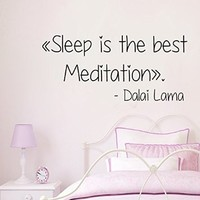 Wall Decals Vinyl Decal Sticker Nursery Bedroom Decor Dalai Lama Quote Sleep Is the Best Meditation Kg897