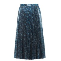 Pleated lamé skirt