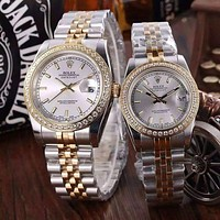 """ROLEX"" Lover Fashion Casual Trending Luxury Diamond Quartz Watch Casual Wristwatch G"