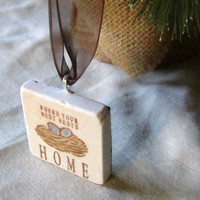 Holiday Christmas Ornament, Home Nest, including Gift Box, Ready to Ship
