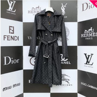 New LV Louis Vuitton Women's Warm Double Breasted Long Trench Parka Coat Suit jacket