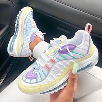 "Nike air max 98 ""easter pastels"" retro atmospheric cushion running shoes"