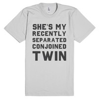 Conjoined Twin (Couples)-Unisex Silver T-Shirt