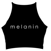 MELANIN BLACK CROP TOP