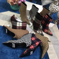 Balenciaga BB BOOTIES FLANNEL