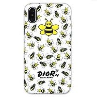 Dior x Kaws co-branded bee 7plus all-inclusive mobile phone case cover White