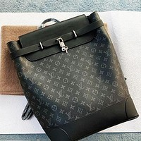 Louis Vuitton LV High Quality Men Women Leather Travel Bookbag Shoulder Bag Backpack