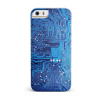 Blue Cirtcuit Board V1 iPhone 5/5S/SE INK-Fuzed Case