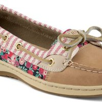 Sperry Top-Sider Angelfish Liberty Floral Print Slip-On Boat Shoe Linen, Size 5M  Women's Shoes