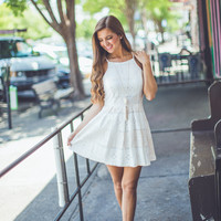 Fine Line Dress in White
