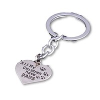 """""""All My Children Have Paws"""" - Dog Lover Key Chain"""