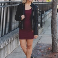 Little Chic Dress - Burgundy