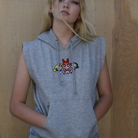 POWERPUFF GIRLS SLEEVELESS HOODIE