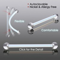 PTFE Flexible Retainers with Clear Acrylic Balls