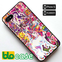 90's Lisa Frank Collage Iphone 5 Rubber Case