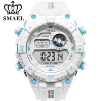 SMAEL White Watch Sport Watches for Men Waterproof Multifunction Wristwatches  Mens Army Military Digital Outdoor Sports Watch