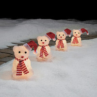 Christmas Outdoor Yard Lighted Pathway Lighting Decorations,Teddy Bears