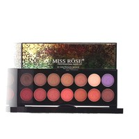 Miss Rose Brand 14 Colors Professional Women Eyeshadow Palette Shimmer Matte Smoky Long Lasting Eye Shadow Palette Set #247149