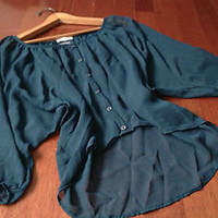 forever21 Accessory Jewlery,Wetseal Sheer Button Accent Dolman Blouse M,L,XL