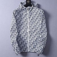 DIOR Summer Trending Hooded Zipper Jacket Coat Sun-Protective Windbreaker