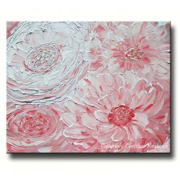 GICLEE PRINT Art Abstract Pink Peony Painting Peonies Flowers Lavender White Floral Canvas Prints