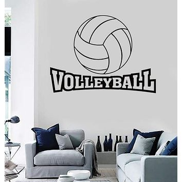 Vinyl Decal Wall Stickers Volleyball Word Game Ball Sport Living Room (z1644)