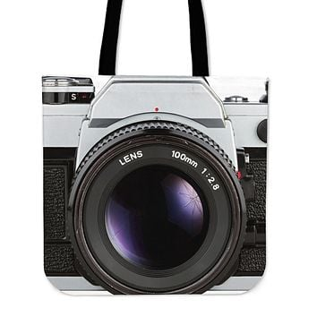 Vintage Camera Linen Tote Bags