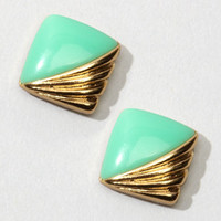 FredFlare.com - Art Deco Trudy Earrings - Vintage Square Earrings