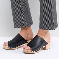 Sol Sana Jackie Black Heeled Clogs at asos.com