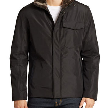 Andrew Marc Caldwell Faux Fur-Trimmed Jacket