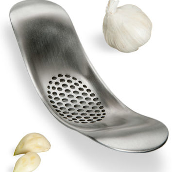 Garlic Rocker Stainless Steel Garlic Crusher