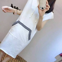 Letter hooded casual dress