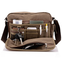 new 2014 men's messenger bags High quality canvas multifunction shoulder bag for men travel business Preppy casual style