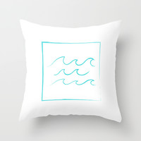 waves Throw Pillow by Urban Exclaim