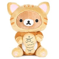 Rilakkuma Eating Fish Tiger Plush