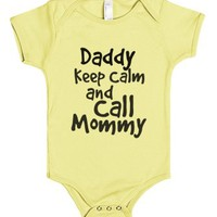 Keep Calm & call mommy-Unisex Lemon Baby Onesuit 00